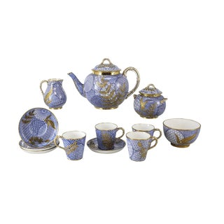 Aesthetic Japonsim 12 Piece Tea Set Designed by Christopher Dresser for Royal Worcester