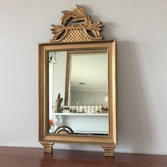 Vintage Gold Wall Mirror - Image 4 of 7