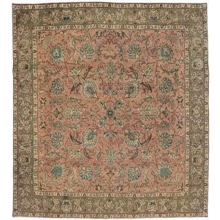 Vintage Persian Traditional Style Tabriz Rug - 10' x 11'