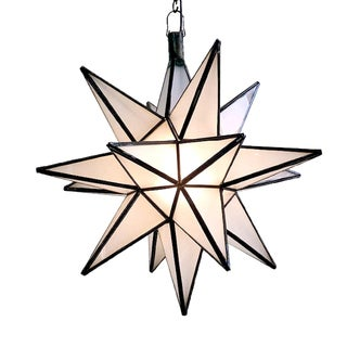 Moroccan Star Lantern - Frosted