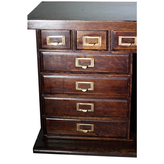 1900 Antique Oak Desk Top - Image 4 of 7