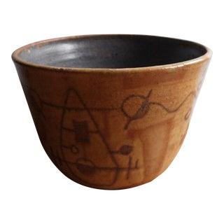 Tribal Patterned Handmade Bowl