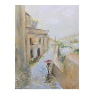 'On the Coast of Italy' Oil Painting