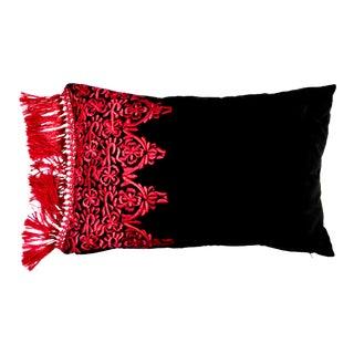 Spanish Velvet Embroidered Shawl Pillow