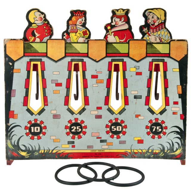 Image of Vintage American Ring Toss Game
