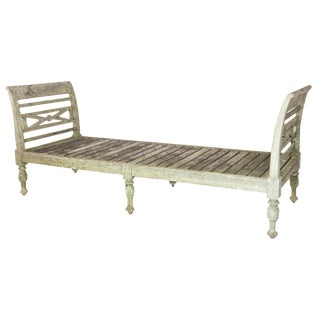 Weathered Teak Daybed Bench