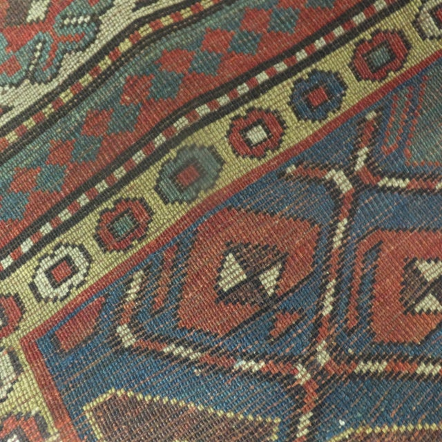 Antique Wool Kazak Runner - 3′9″ × 10′ - Image 3 of 3