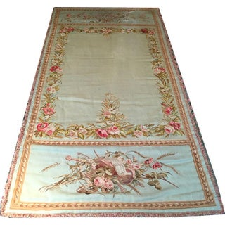 Antique French Aubusson Tapestry Panel