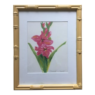 Botanical Print-Faux Bamboo Frame
