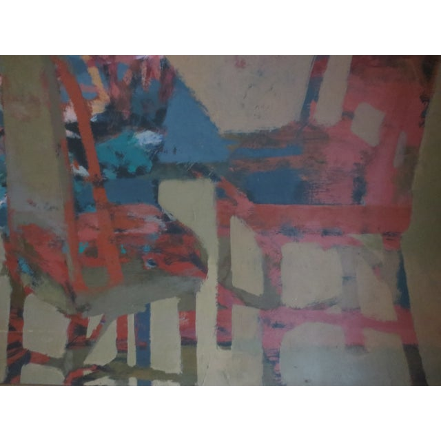 1959 Abstract Painting - Room With Chairs - Image 4 of 11