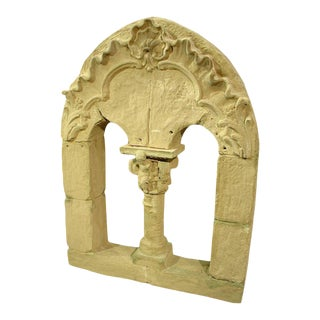 'Faux Stone Roman Window' French Theater Decor
