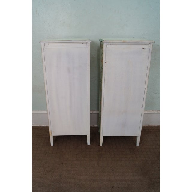 Image of Permacraft Painted & Upholstered Chests - A Pair