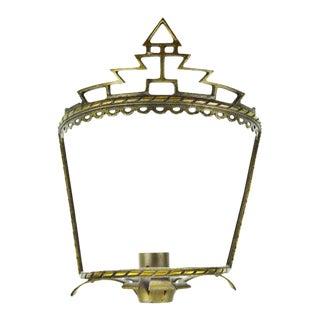 Art Deco Brass Wall Sconce Frame