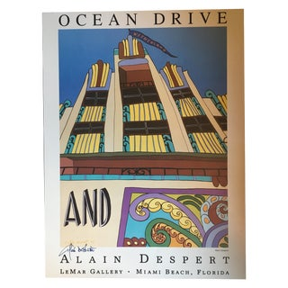 Art Deco Poster Signed by Alain Despert
