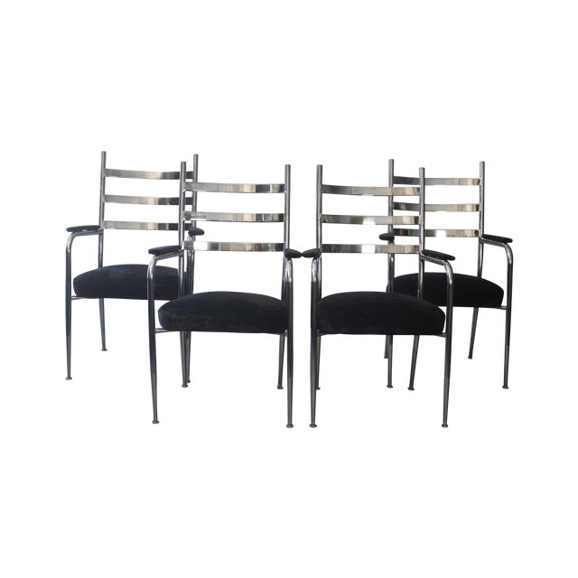 Image of Chrome Dining Chair Set - Set of 4