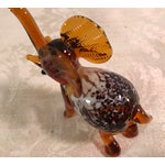 Image of Vintage Blown Art Glass Brown Elephant