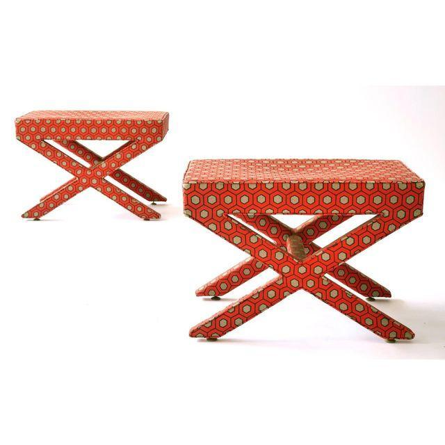 Image of David Hicks X-Base Ottomans