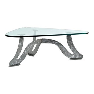 Scalene Triangle Glass Top Coffee Table