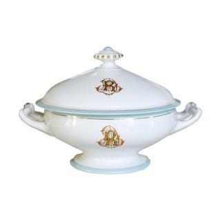 Antique French Porcelain Monogrammed Tureen