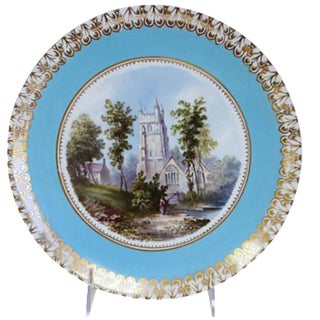 Antique English Hand-Painted English Wall Plate