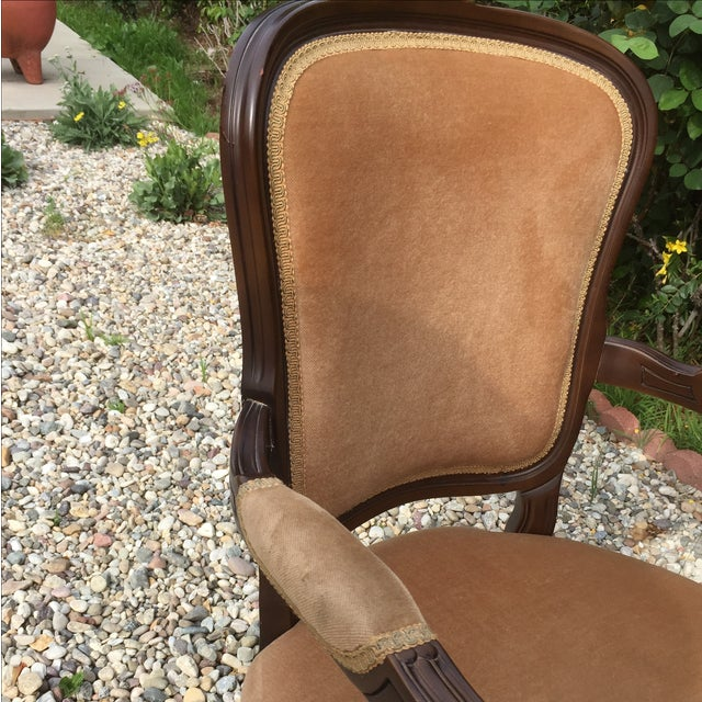 Vintage French Provincial Carved Wood Armchair - Image 7 of 8