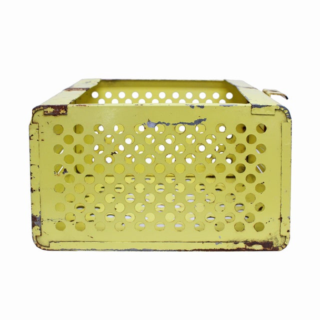 Vintage Yellow Gym Locker Basket - Image 3 of 5