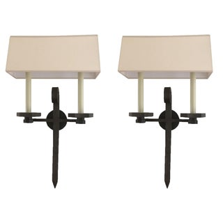 Visual Comfort Iron Wall Sconces - Pair