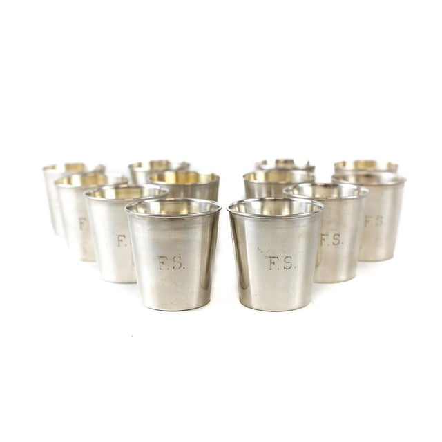 JB & SM Knowles Sterling Silver Shot Jigger Cups #G58 by Udall & Ballou, 1920 - Set of 12 - Image 3 of 5