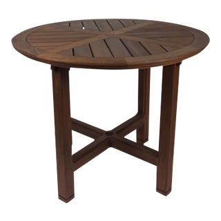 """36"""" Round Solid Teak Wood Dining Table by Terra Furniture"""