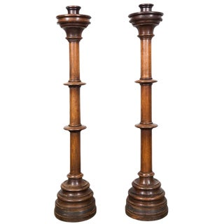 Large Wooden Candle Holders