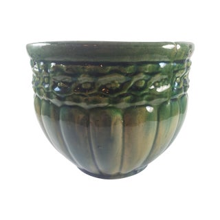 Early American Green Majolica Planter