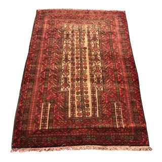 "Vintage Persian Baluchi Prayer Rug- 2'9"" x 4'8"""