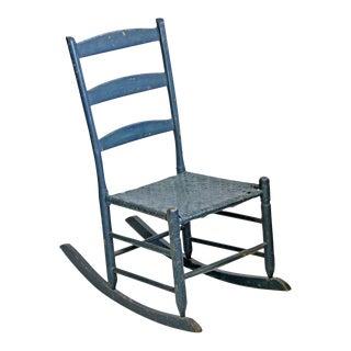 Dark Teal Vintage Shaker Rocking Chair
