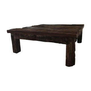 HD Buttercup Antique Railway Tire Coffee Table