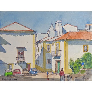 Evora, Portugal Watercolor Scene by Paul Parker