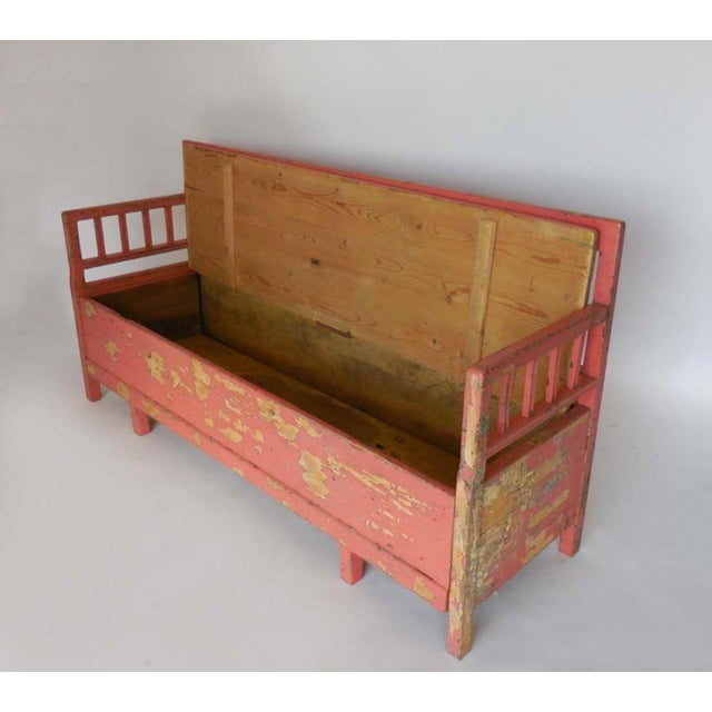 19th Century Painted Swedish Bench/Daybed - Image 6 of 9