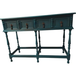 Sea Blue Entryway Console