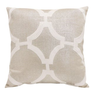 "Piper Collection White Linen ""Reynolds"" Pillow"