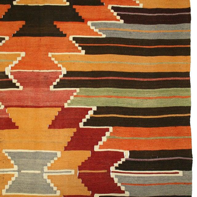 Vintage Turkish Kilim Usak Flatweave - 4'5 X 11'9 - Image 3 of 5