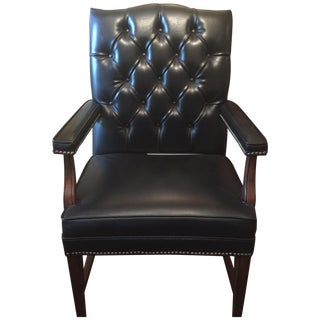Mid Century Paoli Executive Leather Chair