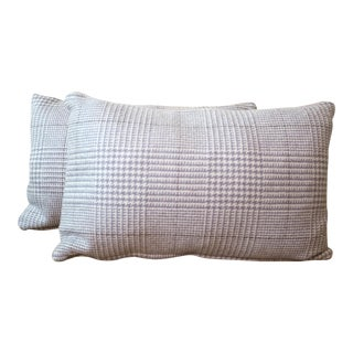 Highland Court by Duralee Wool Houndstooth Pillows - A Pair