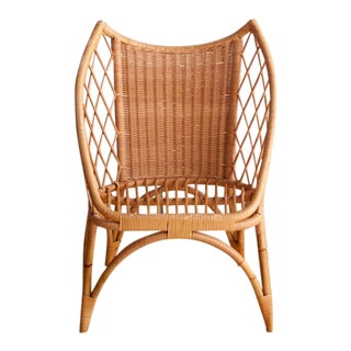 Winged Bamboo Accent Chair. Vintage   Used Chairs  Vintage Seating   Chairish