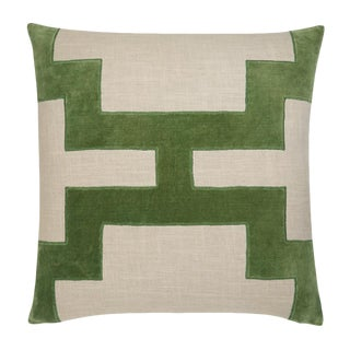 "Piper Collection Green Velvet ""Catie"" Pillow"
