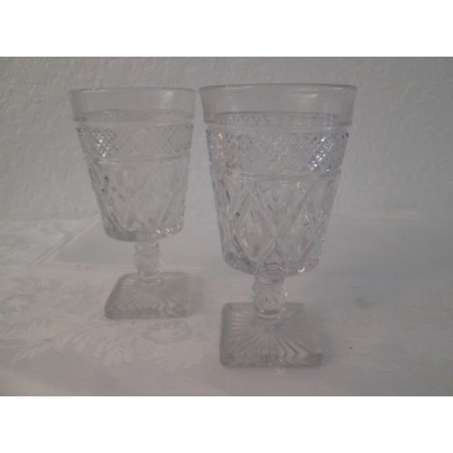 Image of Mid-Century Footed Glass Tumblers - Set of 12