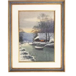 Japanese Landscape Watercolor Painting