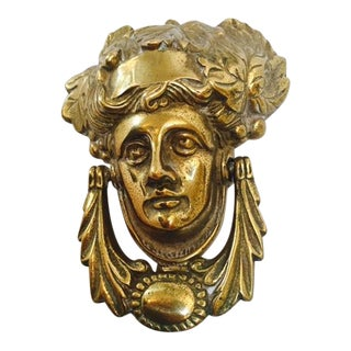 Italian Brass Head Door Knocker