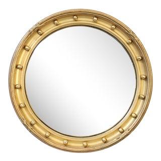 English Gold Leaf Convex Bullseye Mirror