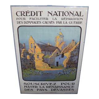 1918 French World War I Poster