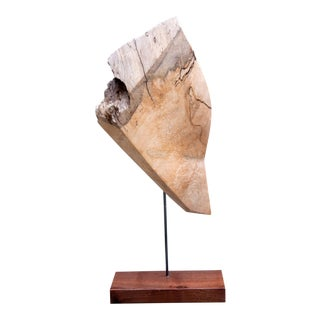 Darin White Faceted Spalted Maple Wood Sculpture