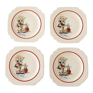 Homer Laughlin Hacienda bread plates circa 1940s